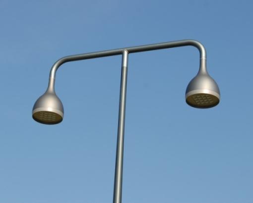 CANDELABRE LED - DROP II LED 2 x 48w (mât pour éclairage public), Eclairage urbain, Eclairage urbain design, Eclairage public, mât aluminium design, candélabre led, é