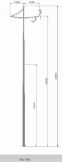 DESIGN SAL P85, Eclairage urbain, Eclairage urbain design, Eclairage public, mât aluminium design, candélabre led, é